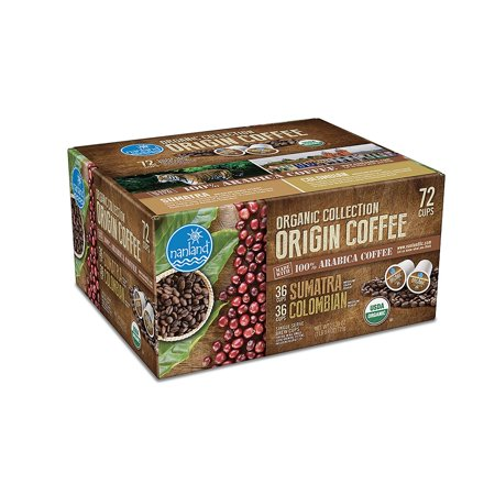 Nanland - Nanland Organic Collection Origin Coffee Variety Pack (0.36 oz. ea., 72 ct.) - (coffee - best for winter all