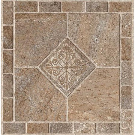 ARMSTRONG PEEL N' STICK TILE 12 IN. X 12 IN. MULTICOLOR BRONZE 1.14MM (0.045 IN.) / 45 SQ. FT. PER CASE per 2 Case Aged Bronze Tile Flooring