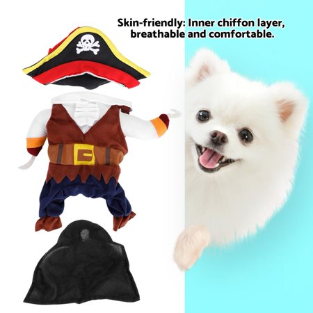 EECOO Fashion Dog Outfit,Pet Clothes Pirate Dog Costume Outfit Fashion Skin-friendly for Christmas,Skin-friendly Pet Pirate Costume (Pirate Costume For Dogs)