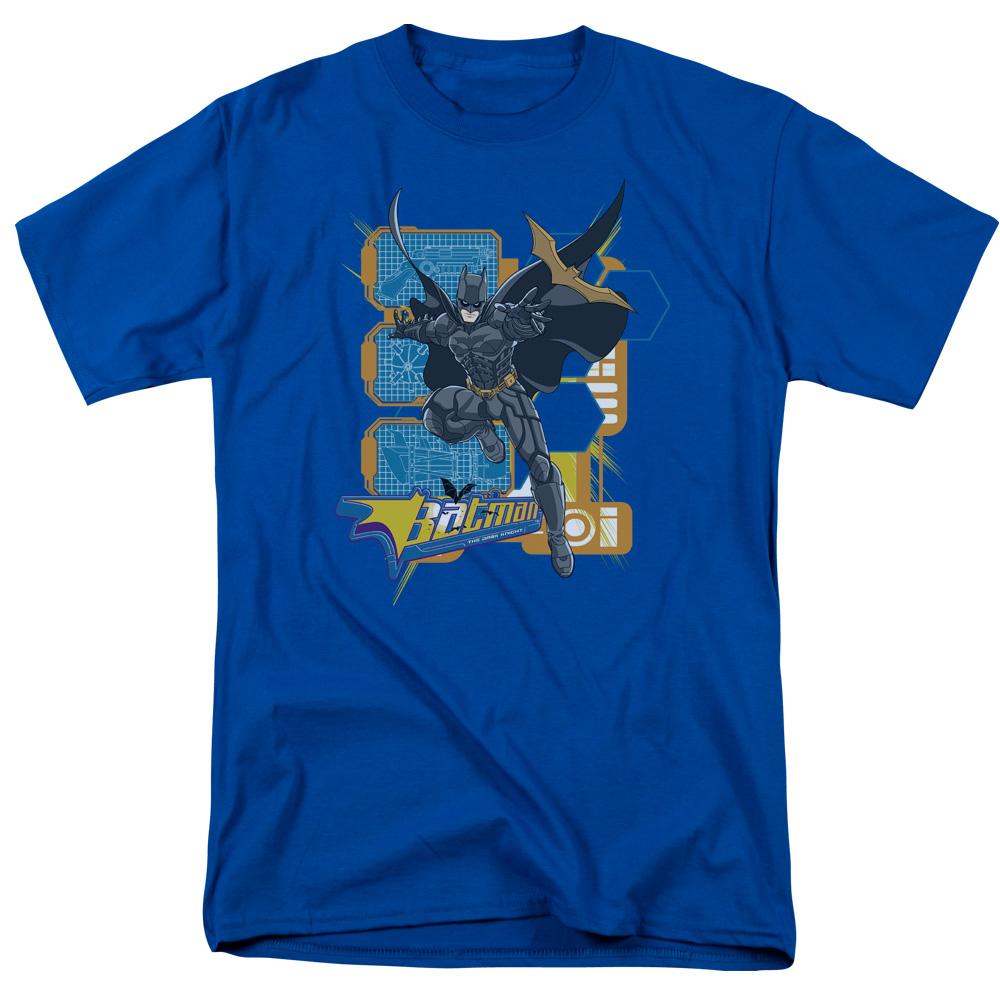 DARK KNIGHT/BATARANG TECH-S/S ADULT 18/1-ROYAL BLUE-SM