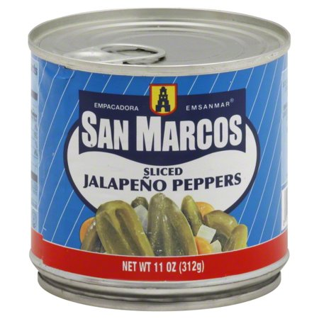 (6 Pack) San Marcos Sliced Jalapeño Peppers, 11 Oz - City Of San Marcos Ca