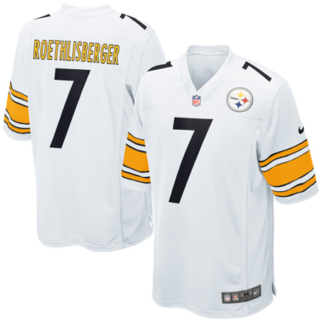 Ben Roethlisberger Authentic Jersey - Ben Roethlisberger Pittsburgh Steelers Nike Game Jersey - White