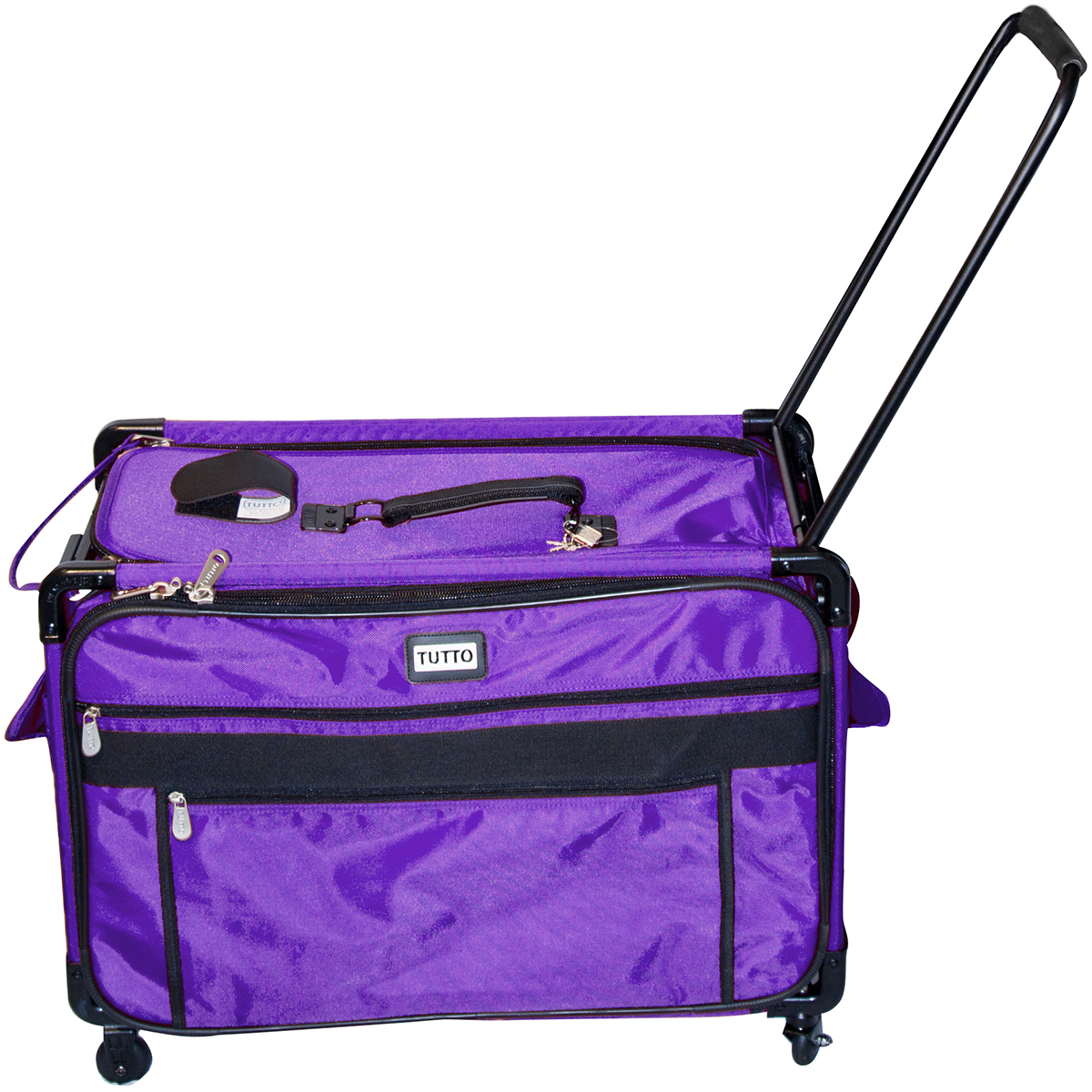 "TUTTO Machine On Wheels Case 27""X16.25""X14"" Purple"