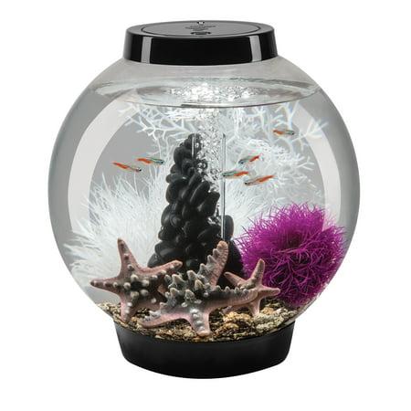 biOrb CLASSIC 15 Aquarium Set with LED Light 4 gallon black