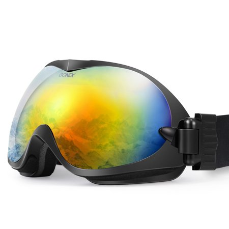 OTG Ski Goggles, Gonex Snow Snowboard Goggles for Men & Women Anti-Fog UV Protection with Goggle Box