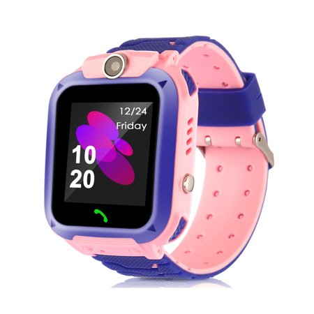 Kids Smart Watches with Tracker Phone Call for Boys Girls,  Waterproof IP67, Digital Wrist Watch, Sport Smart Watch, Touch Screen Cellphone with Camera Anti-Lost SOS Learning Toy for Kids Gift