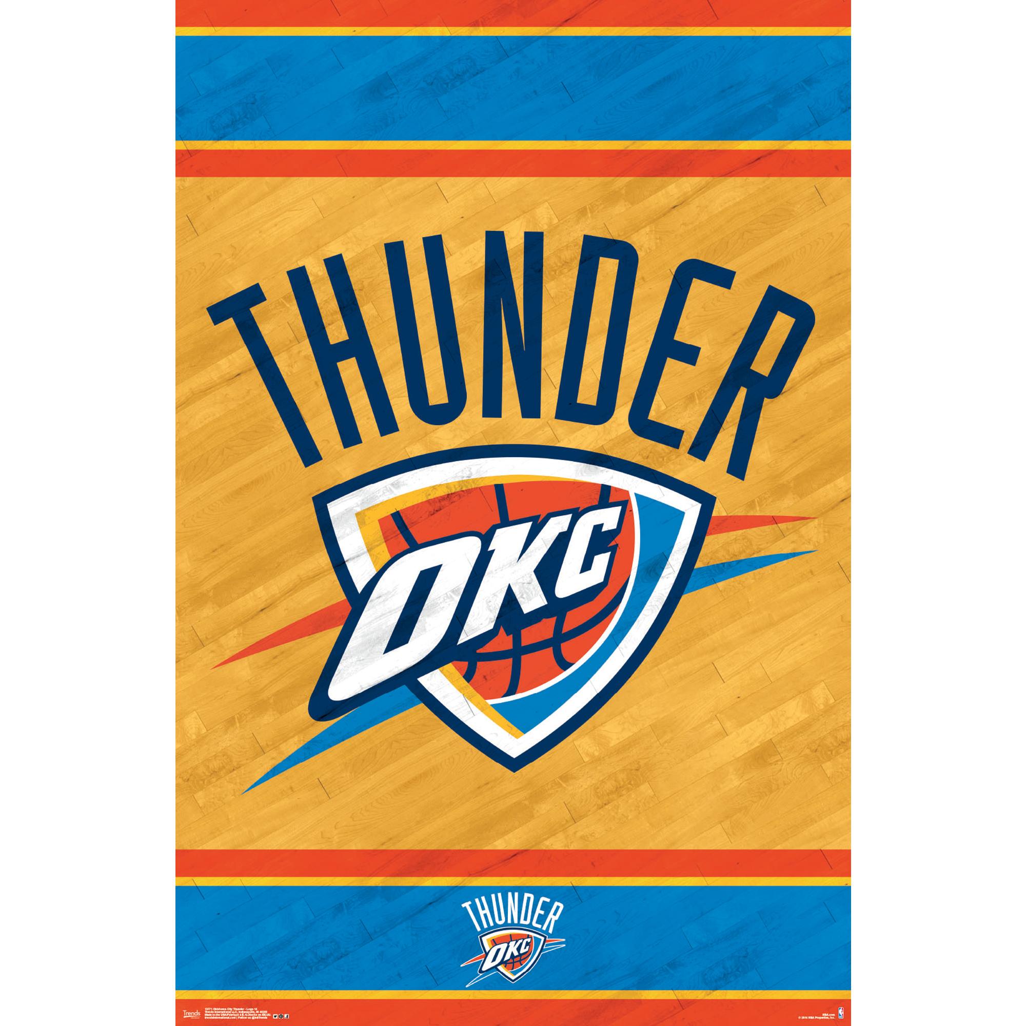 Oklahoma City Thunder 22'' x 34'' Logo Poster - No Size