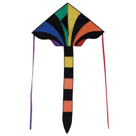 In The Breeze Rainbow Sparkler Fly Hi Delta Kite, 46-Inch Fly Traction Kite