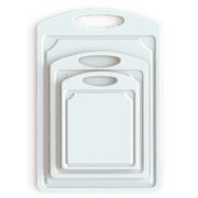 Mainstays Poly White Cutting Boards, 3 Piece