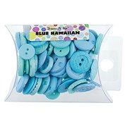 Dress It Up Blue Hawaiian Assorted Buttons