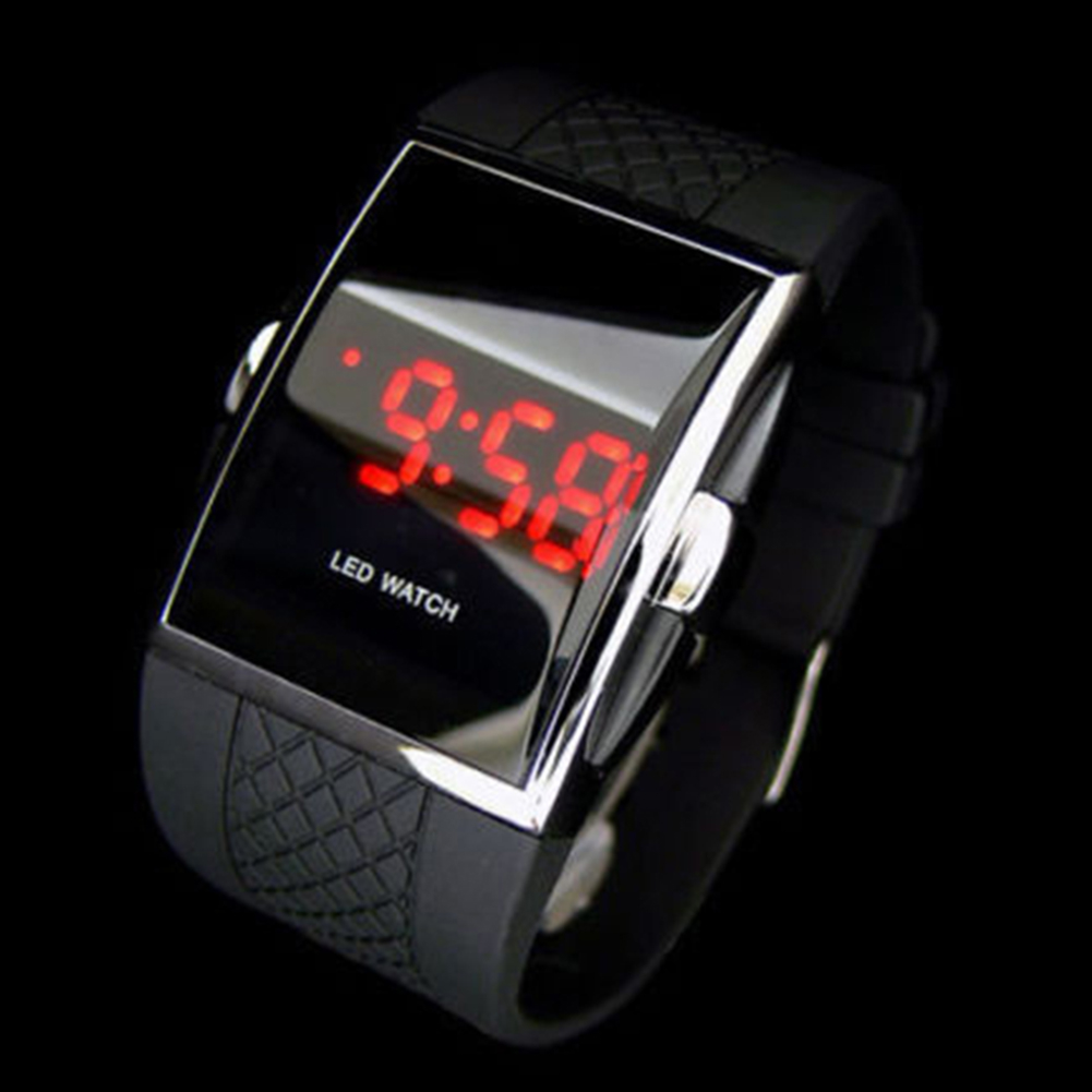 Men Women Fashion LED Digital Display Square Case Sports Casual Wrist Watch