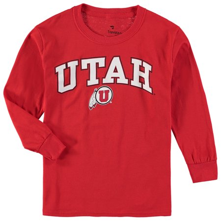 - Utah Utes Fanatics Branded Youth Campus Long-Sleeve T-Shirt - Red