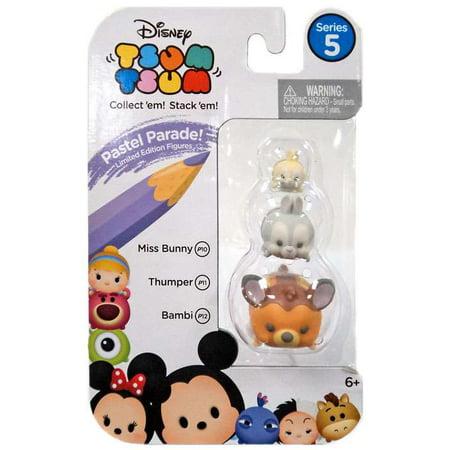 Disney Tsum Tsum Series 5 Pastel Parade Miss Bunny, Thumper & Bambi Minifigure - Disney Thumper
