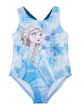 Frozen 2 Girls 4-6X Elsa One Piece Swimsuit