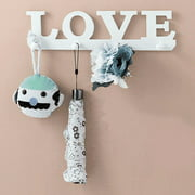LOVE Hook Hanger Rack Door Wall Mounted Towel keyholder Clothes Coat Key Hat Bag Hanging Holder Home Decoration