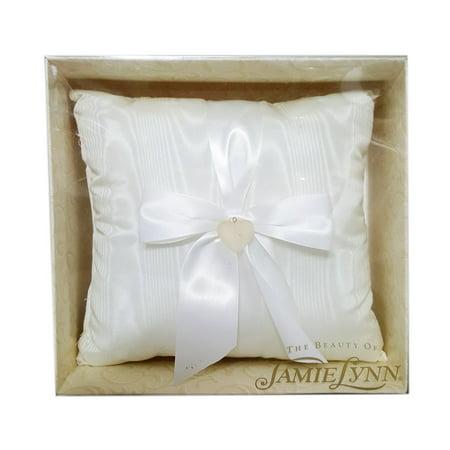 Jamie Lynn Wedding Accessories Heart Pillow White