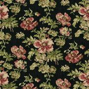 "Waverly Inspirations Cotton Duck 54"" LATTICE BLACK Fabric, per Yard"