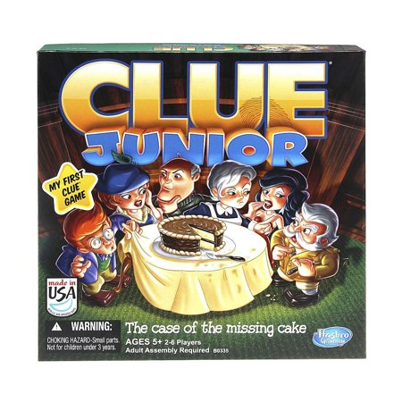 Clue Junior Board Game The Case Of The Missing Cake  Give Junior Detectives A Chance To Solve The Case With This Specially Designed Game  A Classic    By Hasbro
