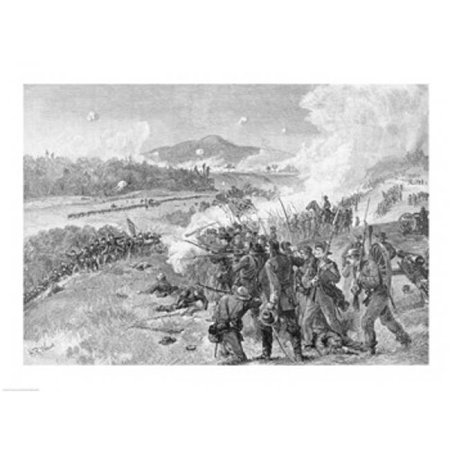 The Battle of Resaca Georgia May 14th 1864 Poster Print by Alfred R. Waud - 36 x 24 in. - Large - image 1 of 1