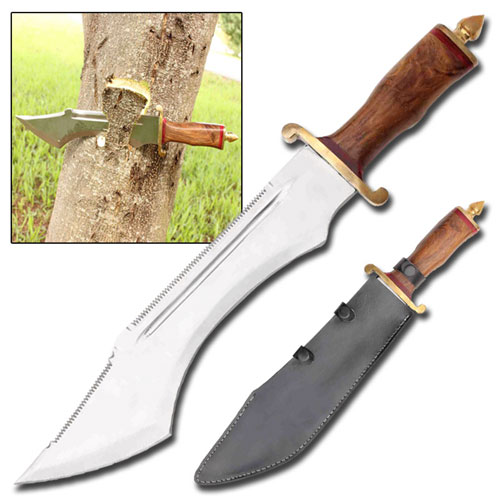 Crocodile Dundee Sawback Bowie Knife Massive Stand Alone Survival Knife by