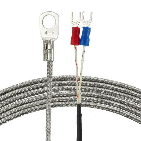 K Type Temperature Sensor Probe 2M Cable Thermocouple 32~752°F(0~400°C)