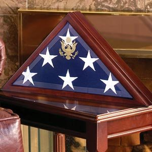 American Burial Flag Box, Large Coffin Flag Display Case](Flag Display Box)