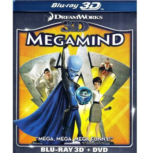 Megamind (3D Blu-Ray + DVD) (Widescreen)