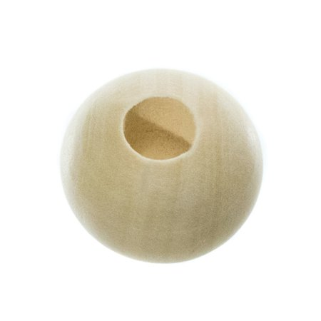 Unfinished Natural Wood Spacer Beads - Available in Muktiple Sizes and Packs of 6, 12, 20, 25, 30, and 50 - Ideal for DIY Crafting Bracelets, Necklaces, Home Decoration