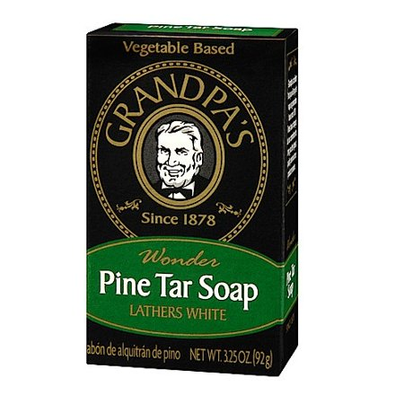 Grandpa Brand Pine Tar Soap 1 bar (Best Pine Tar Soap)