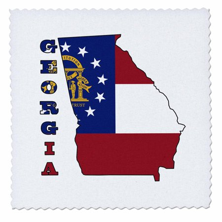 3dRose Georgia state flag in the outline map and letters of Georgia - Quilt Square, 10 by - Halloween 20 Years Later Online