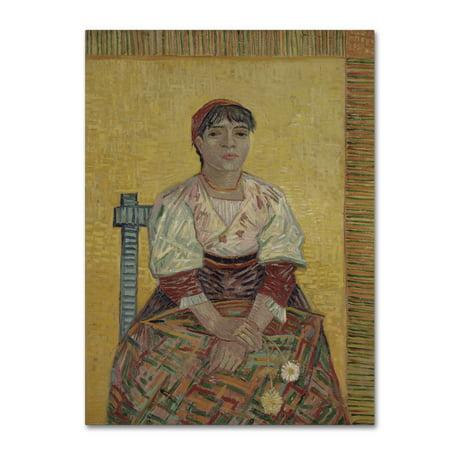 Van Gogh Italian - Trademark Fine Art 'The Italian Woman' Canvas Art by Van Gogh
