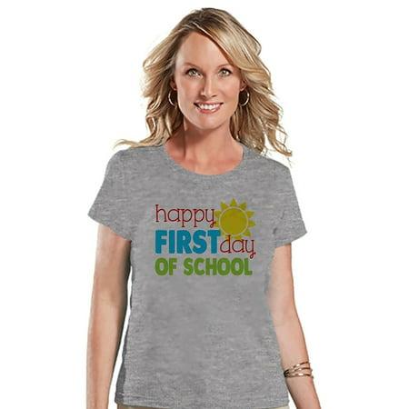 Custom Party Shop Womens First Day of School Teacher T-shirt - Small - Naughty School Teacher