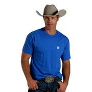 Cinch Western Shirt Mens S/S Jersey Tee Screenprint Royal MTT1690204