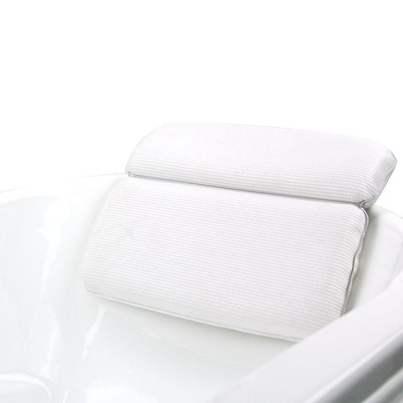 Waterproof Non Slip Spa Bath Pillow With Luxury 2 Panel