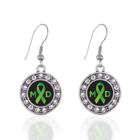 Muscular Dystrophy Circle Charm Earrings