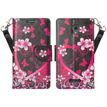 info for 9dbca d3b3d Alcatel Fierce 4 | Alcatel Onetouch Allura | Alcatel Pop 4+ Wallet Case,  Wrist Strap Flip [Kickstand] Pu Leather Wallet Case with ID & Credit Card  ...