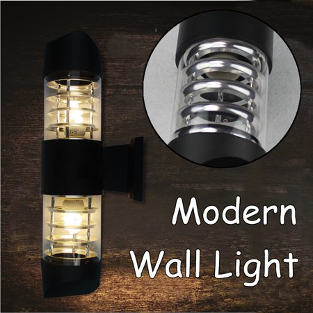 Mount Outdoor Lamp - Wedlies Outdoor Wall Light Fixture Wall Mounted Sconce Lamp Weatherproof Glass Shade for Garden & Patio