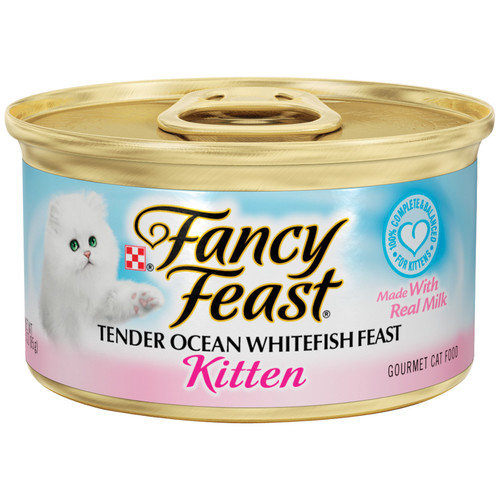 Fancy Feast Kitten Ocean  Whitefish Wet Cat Food (3-oz can,case of 24)
