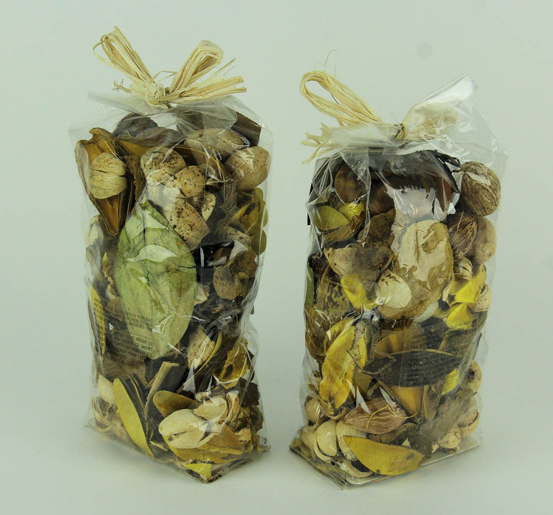 Double Bag Lot of Saffron Yellow and Brown Dried Botanical Decorative Filler - image 2 of 3