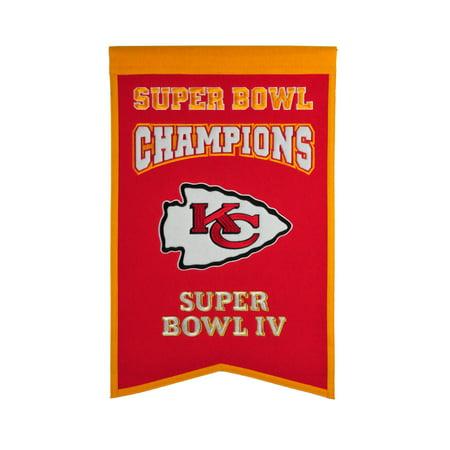 Winning Streak - NFL Champions Super Bowl Banner, Kansas City (Kansas City Chiefs Flag)