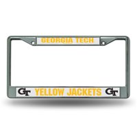 Chrome License Plate Frame - Georgia Tech Yellow J
