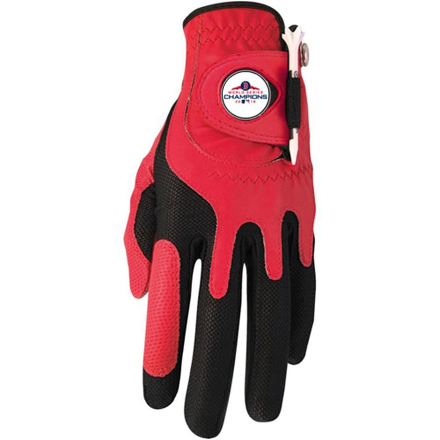 Boston Red Sox 2018 World Series Champions Left-Hand Golf Glove & Ball Marker Set - Red - OSFM