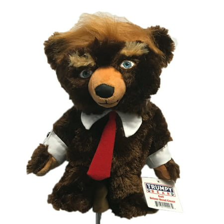 Knit Golf Club Covers - Trumpy Bear Golf Driver Head Cover- The look of the Trumpy Bear for your golf clubs!