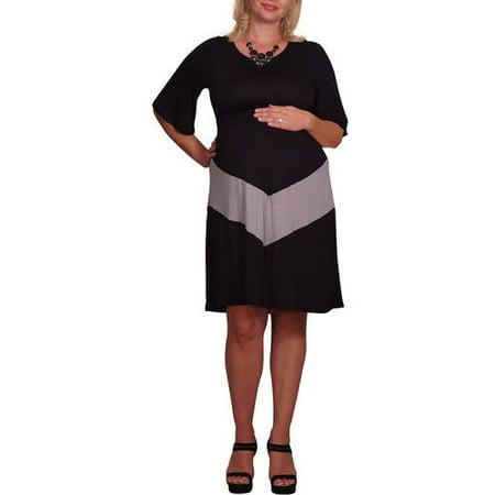Maternity Chevron Print Plus Size Maternity Dress