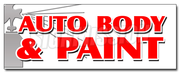 "36"" AUTO BODY & PAINT DECAL sticker collision insurance car repair small jobs by SignMission"