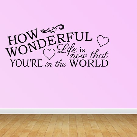 Wall Decal Quote How Wonderful Life Is Now That You're In The World - Now That Halloween Is Over Quotes