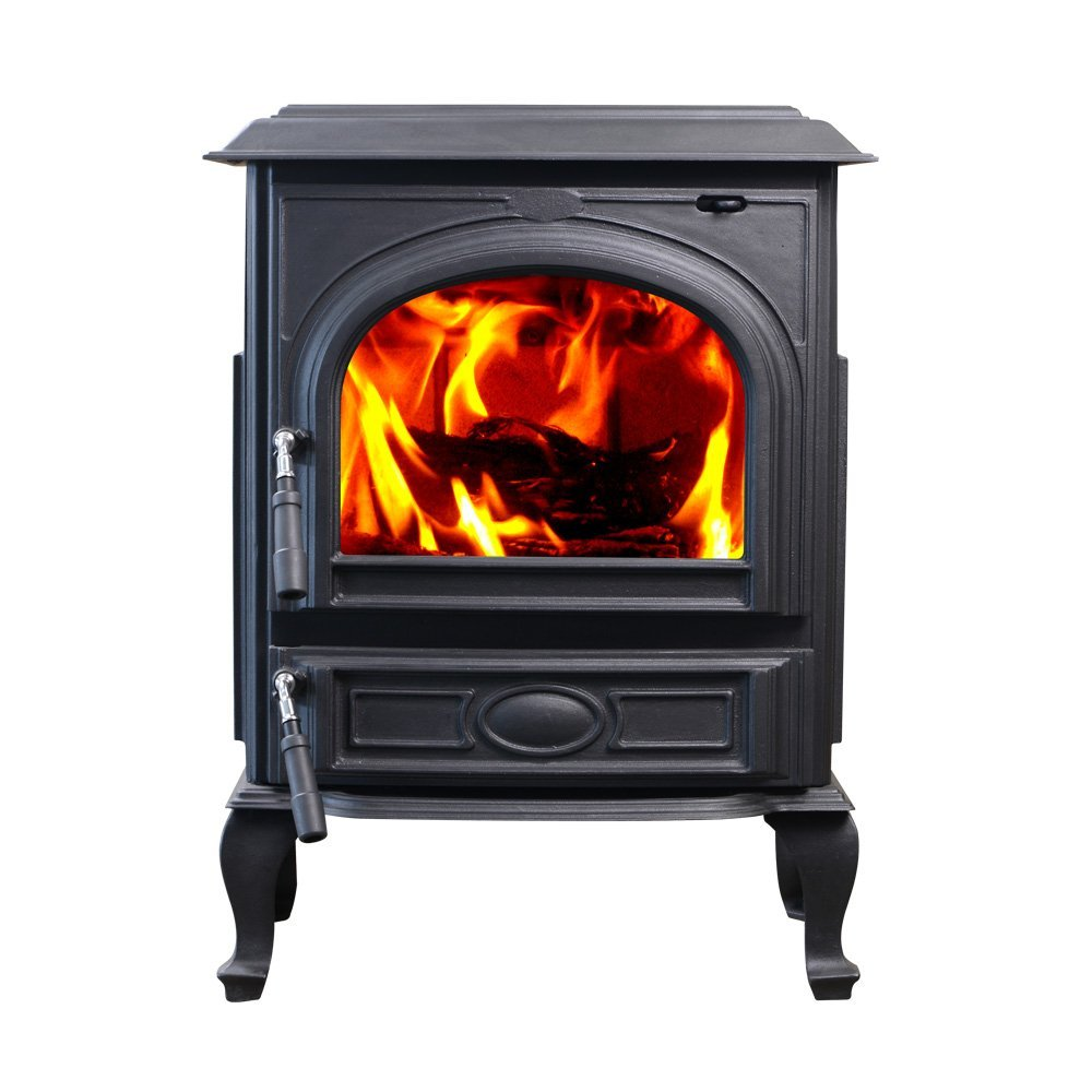 Hiflame 1800sq Ft Cast Iron Wood Burning Stove Fireplace Hf717ua Paint Black Ebay