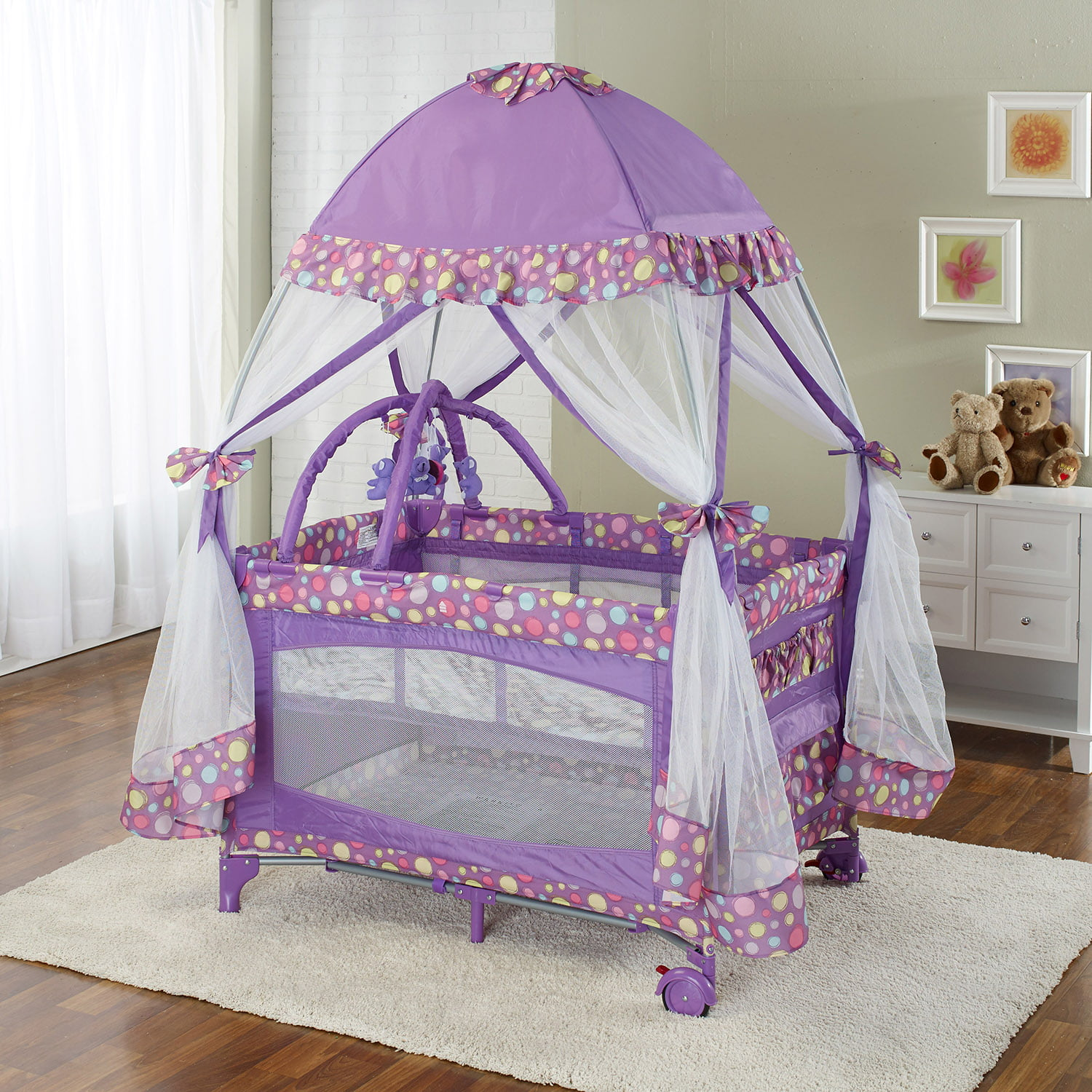 Play Pen with Moquito Net Purple by Big Oshi