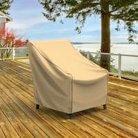 Budge Small Tan Patio Chair Cover, NeverWet® Savanna