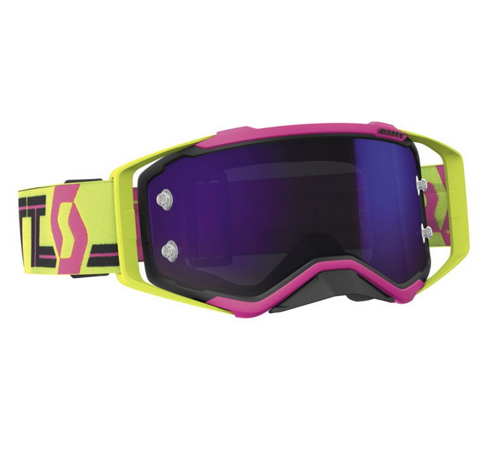 Scott Prospect 2018 MX Offroad Goggles Pink/Yellow/Purple Chrome